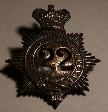 CHESHIRE-22nd REGIMENT OF FOOT. QUILTED SHAKO BADGE