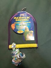 Parrot Parakeet Bird Acrylic Swing & Rope Perch ( Medium )