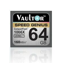 New Vaultor 64GB 1066X Professional Compact Flash CF Memory Card - 160MB/s READ