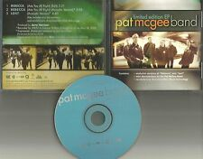 PAT McGEE BAND Rebecca & lost ACOUSTIC w/ VIDEO DOCUMENTARY PROMO DJ CD single