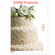 Wedding Cake USPS Postage Stamps Sheet of 20 Invitations Marriage 2 oz. love