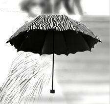 Women's Parasol Umbrella Fashion Creative folding umbrella zebra stripe Sun/Rain