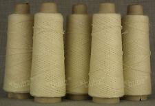 Cinque coni di 4 Ply Jura LANA-Ecru - 500g dieci PALLINE-Knit Weave Crochet FELTRO
