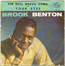 "BROOK BENTON ""THE BOLL WEEVIL SONG"" POP SOUL SP 1961 MERCURY 71820"