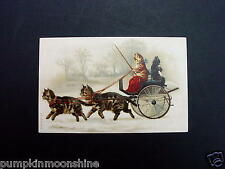 #H147- Vintage Unused Greeting Post Card Kittens on a Ride in a Wagon, So Cute