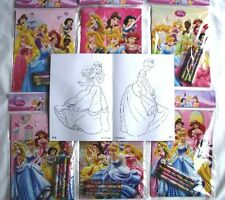 Lot 12 Disney Princess Coloring Book Crayon Birthday Party Favor Bag Fillers