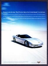 """2003 Chevrolet Corvette Coupe photo """"More Than Another Pretty Face"""" print ad"""