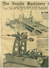 1800s-1900s Cataloge of Heavy Machinery for Farm & Factory Saw Mills, Engines +