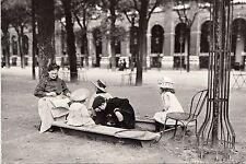BF14051 jardin du palais royal  paris 1900 france front/back image