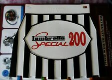 Lambretta Black white & Red 200 Special Genuine Cuppini Mudflap Rubber Type