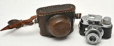 Vintage Toko Tone Miniture Camera w/Case & Anastigmat 25mm Lens