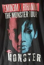 Eminem featuring Rihanna The Monster Tour 2014 Black Shirt Top Adult Medium Used