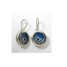 Special 925 Sterling Silver Ancient Roman Glass Earrings -Israeli Jewelry