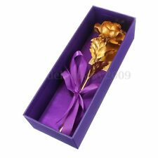 24K Gold Filled Unique Preserved Rose Valentine's Day Friend Mom Gift Tw