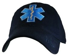 Military EMT Hat with Logo Navy Cap Velcro Closure