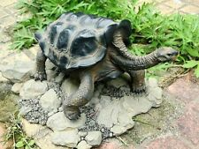 Galápagos Galapagos Giant Land Tortoise Turtle Resin Model Figurine 18cm Color A