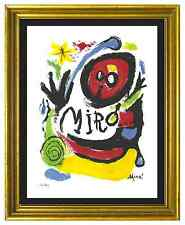 "Joan Miro Signed & Hand-Numbered Ltd Edition ""Tres Livres "" Lithograph Print"