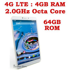 "EU STOCK: TECA LTE-830 4G ANDROID 5.1 OCTA CORE 4GB-RAM 64GB 8"" TABLET PHONE x"