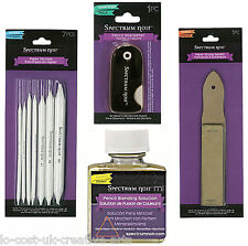 SPECTRUM NOIR COLOUR PENCIL SOLUTION STUMPS SHARPNER SANDER FULL ACCESSORIES SET