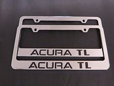 2 ACURA TL STAINLESS STEEL metal Chrome License Plate Frame