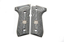 Wilson Combat - Beretta 92/96 G10 Grips - Checkered WC Logo - Gray / Black