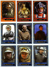 Topps Star Wars Galactic Files 2 - 9 Blue Parallel Cards Characters C-3P0 Han