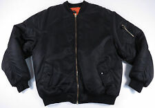 VTG BLACK & ORANGE REVERSIBLE MILITARY FLIGHT BOMBER JACKET COAT ARMY EUC MENS