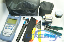 9 In 1 Fiber Optic FTTH Tool Kit with FC-6S Fiber Cleaver and Power Meter TK48