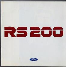 Ford RS 200 1987 UK Market Sales Brochure Motorsport Luxury