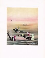 1940's Vintage Yves Tangy Lumiere L'ombre Surrealist Offset Litho Art Print