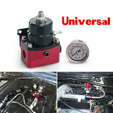 Universal Adjustable Fuel Pressure Regulator+160psi Gauge AN 6 Fitting End Metal