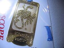 New Scorpio Scorpion Zodiac 24K Gold plated metal Bookmark book mark Made JAPAN