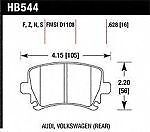 Hawk Perf HB544R.628 Disc Brake Pad for Audi Volkswagen