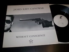 """James Rays Gangwar """"Without Conscience"""" 12"""" Merciful Release MRAY 101 Uk 1990"""