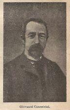 A9195 Giovanni Canestrini - Xilografia - Stampa Antica del 1906 - Engraving