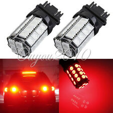 2x Red T25 3157 3057 3457 5050 36 SMD LED Stop Tail Brake Parking Light Bulb NEW