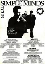 1/6/91 Pgn41 Advert: Simple Minds In Concert the Real Life Tour 91 15x11