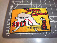 Alaska Yukon Quest 1000 mile Dog Sled Race 2017 Embroidered Patch - NEW!!!