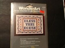 Bless This House ~ Counted Cross Stitch ~ WonderArt kit 5519
