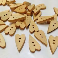 2000pc20mm Novelty Wood Hearts Buttons Sewing cardmaking Fastenings kitting SALE