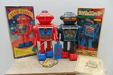Rare Pair Dynamic Fighter & Space Ranger Robot by Junior Made Japan 1970's Box