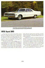 1970 Chrysler 300 Hurst Article - Must See!!