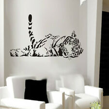 Animal tiger relaxing wall sticker waterproof home decal decor-S T1
