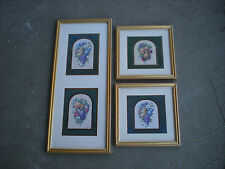3 Kirklands Tuscany Fruit Design Accent Pictures Vintage Fruit by Kathy Seek