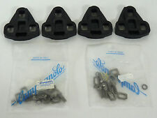 Campagnolo C Record SGR Pedal Cleats With New Hardware Bolts   2 Sets NOS