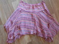 Miss Selfridge Pink Sequin Embellished Chiffon Flare Mini Skirt Size 6 £35 NY12