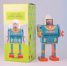 Saint John Tin Metal Retro Robot Toy Astro Captain 13cm SJ020034 New