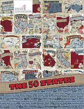The 50 States Collection -- Anita Goodesign Embroidery Designs -- On handy USB