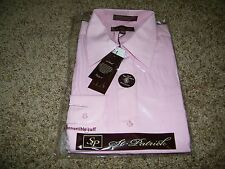 St Patrick Convertible Cuff Men's Long Sleeve Pink Dress Shirt Size 15.5 34-35