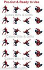 24 x SPIDERMAN Edible Wafer Cupcake Cake Toppers, Pre Cut & Ready to Use.